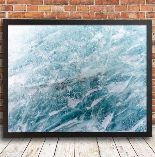 Ice Abstract Print