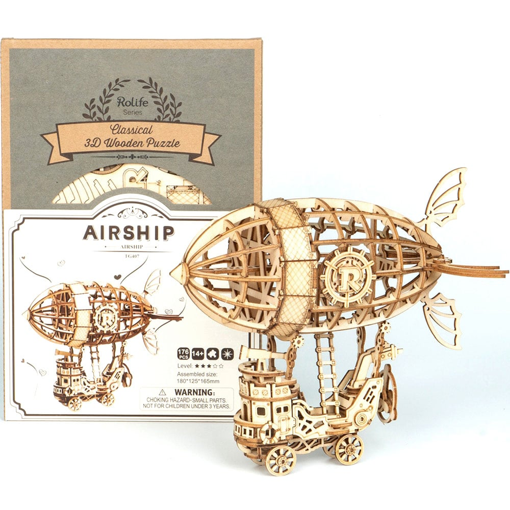Travel Airship 3D Wooden Puzzle