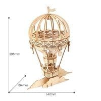 Hot Air Balloon 3D Wood Puzzle 02
