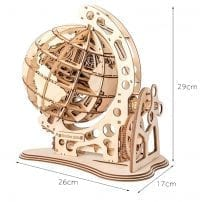 Travel Globe 3D Wood Puzzle 02